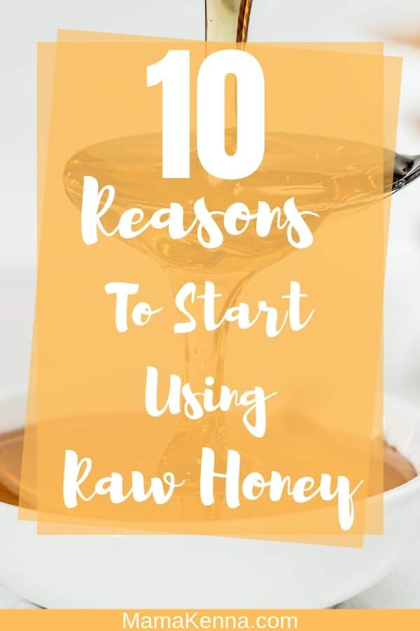 10 reasons to start using raw honey pinterest. Spoon pouring honey in bowl.