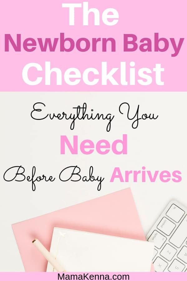 The newborn baby checklist pinterest everything you need before baby arrives