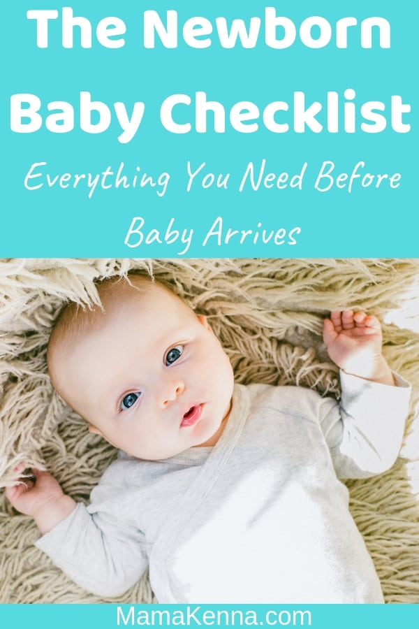 pinterest The Newborn Baby Checklist everything you need before baby arrives. Baby laying down