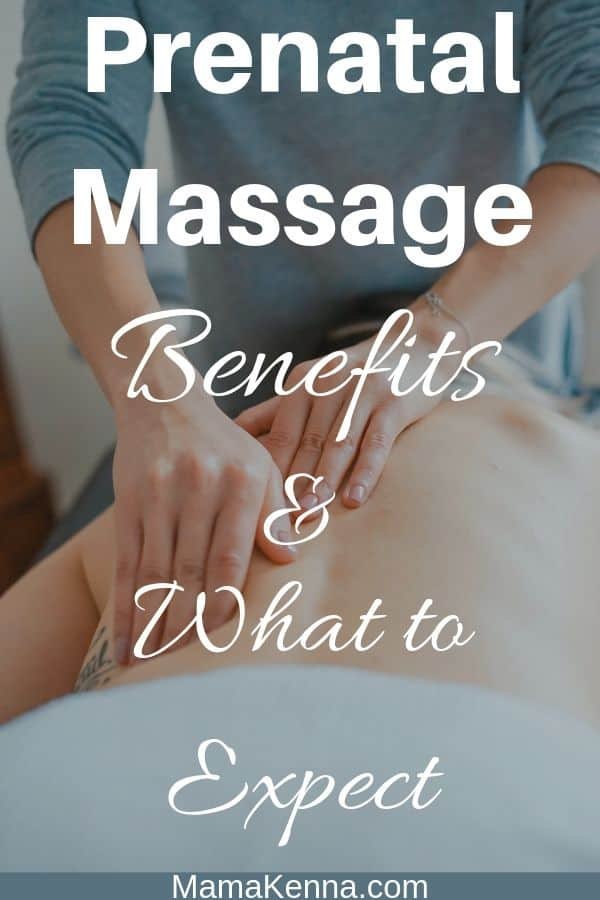Prenatal Massage benefits & what to expect pinterest. Woman getting massaged